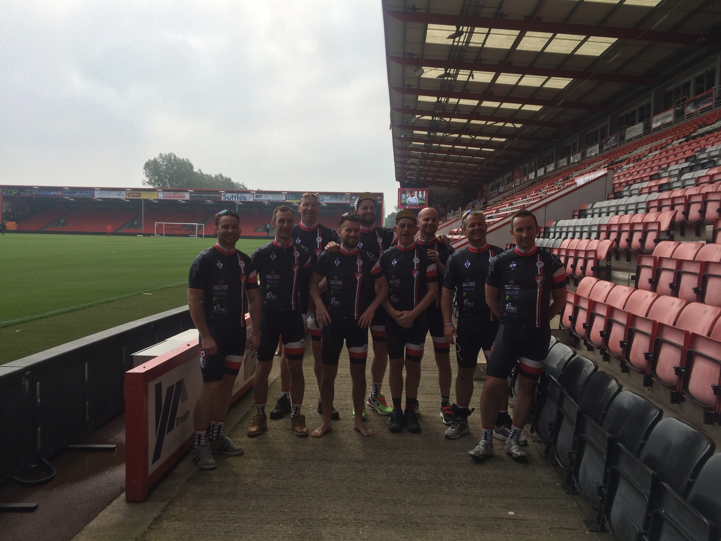 At Dean Court posing for the Media.