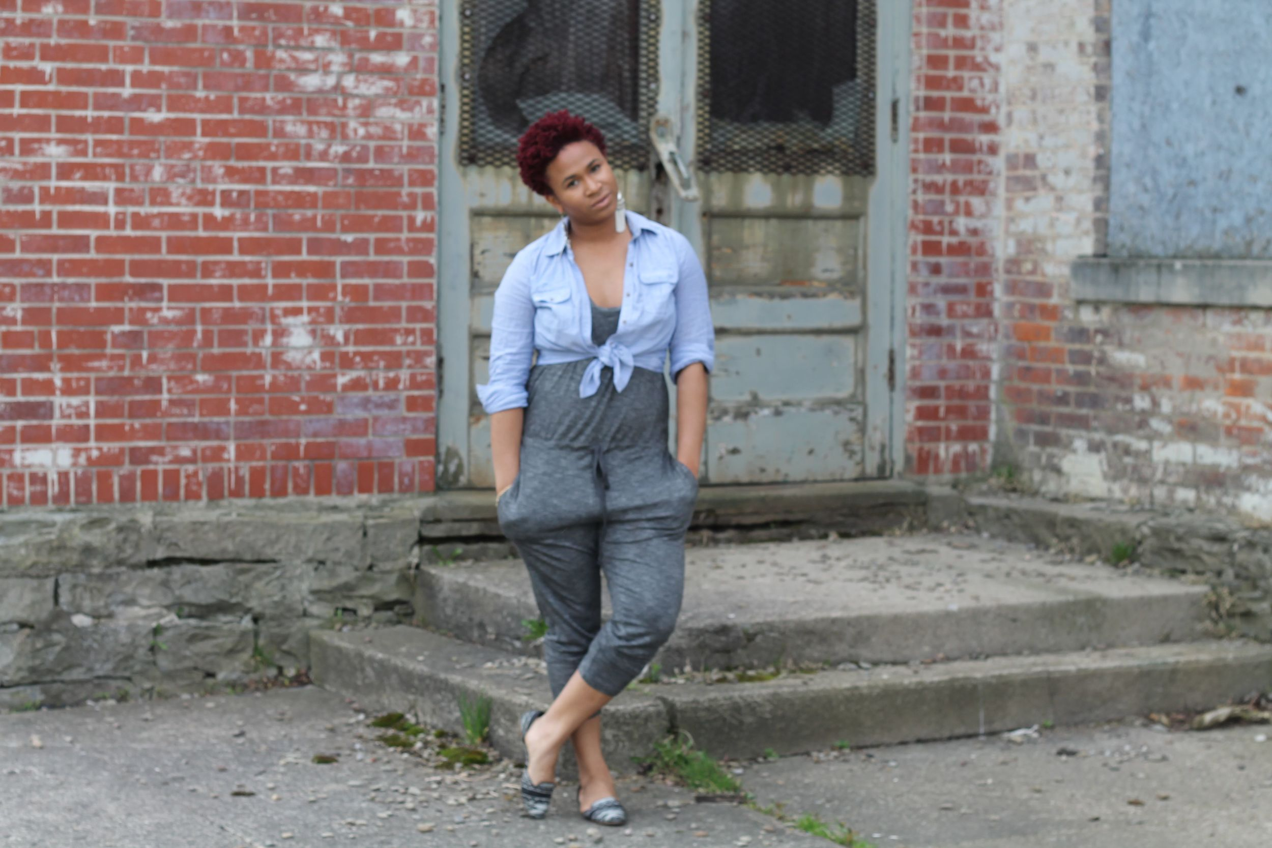 Jumpsuit and Denim for a relaxed look...