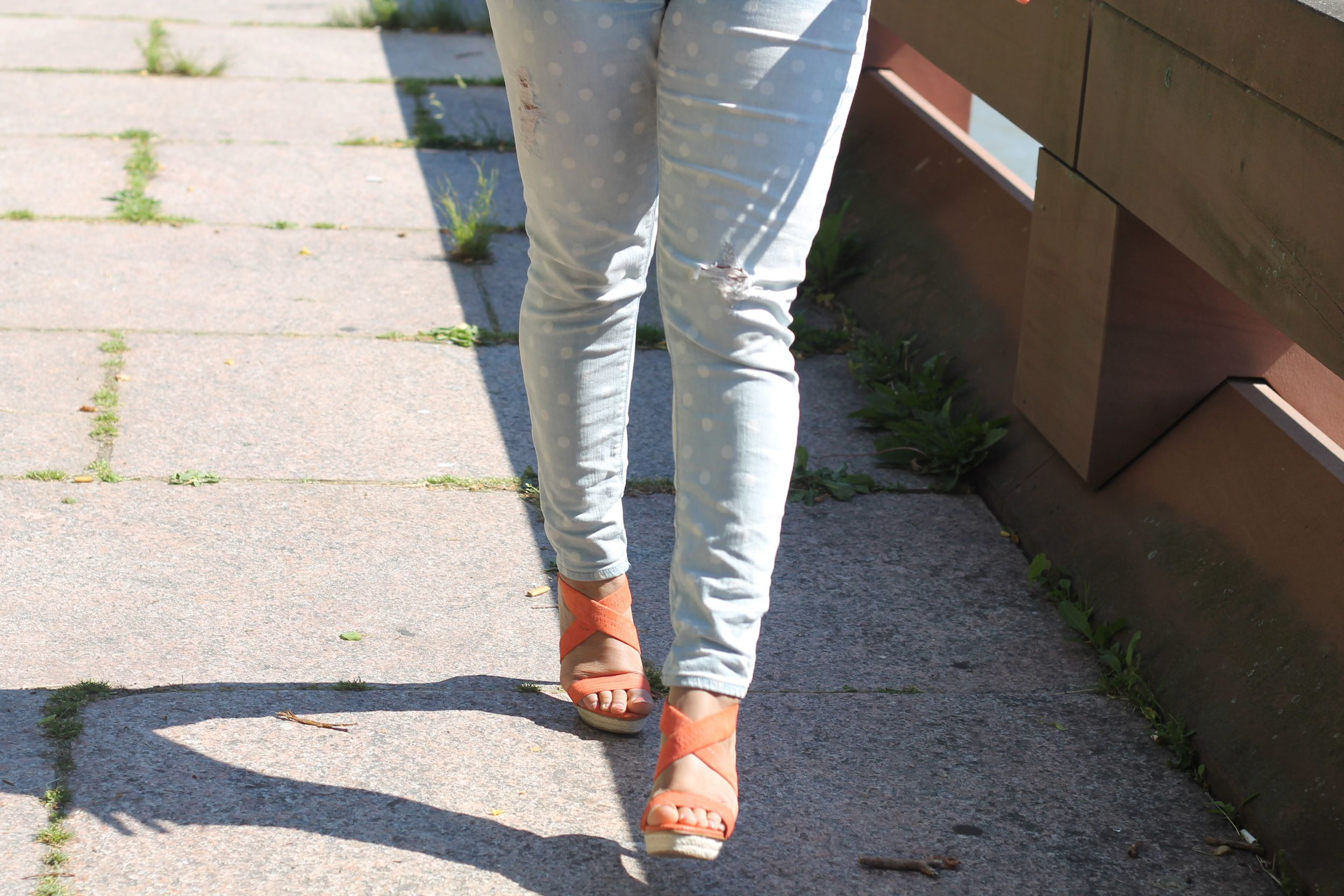 Express Polka Dot Jeans
