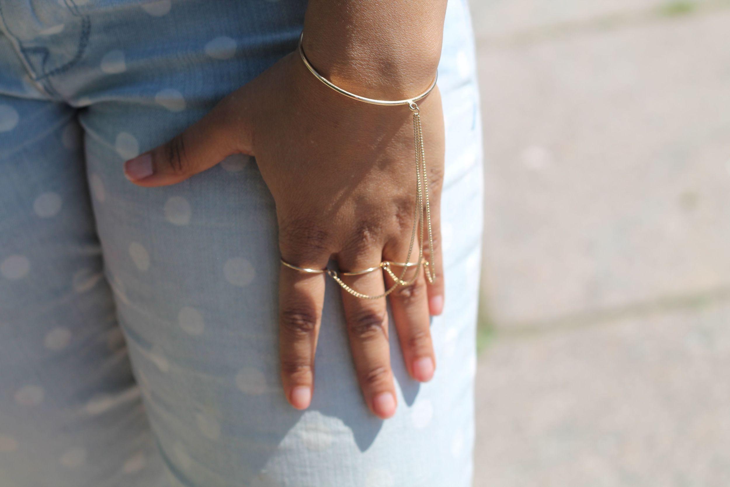 H & M 3 ring Bracelet
