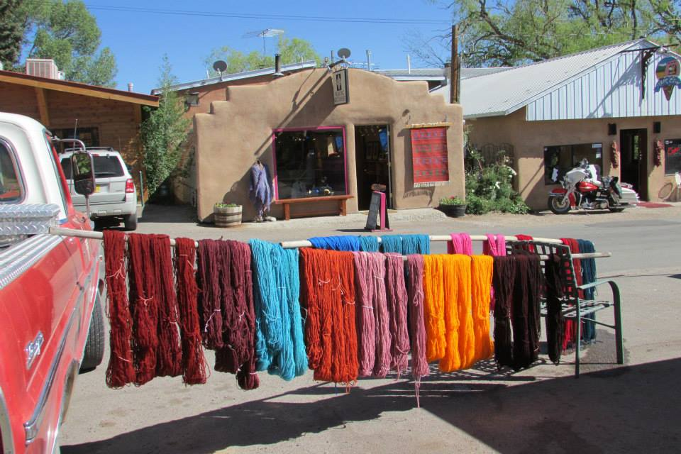 Rio Grande yarns drying in the road.