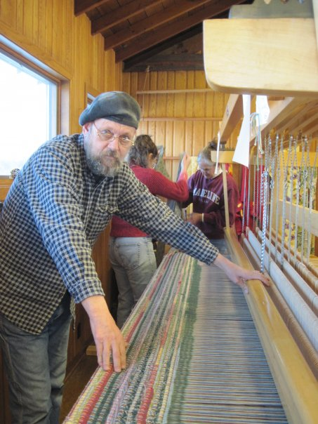 Woods Hall Jim Kasperson on the big loom.jpg