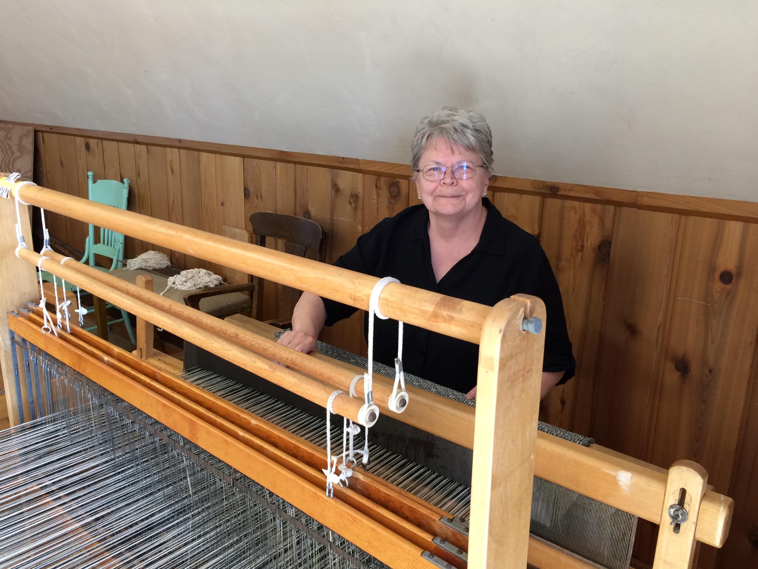 Dolly at the loom.