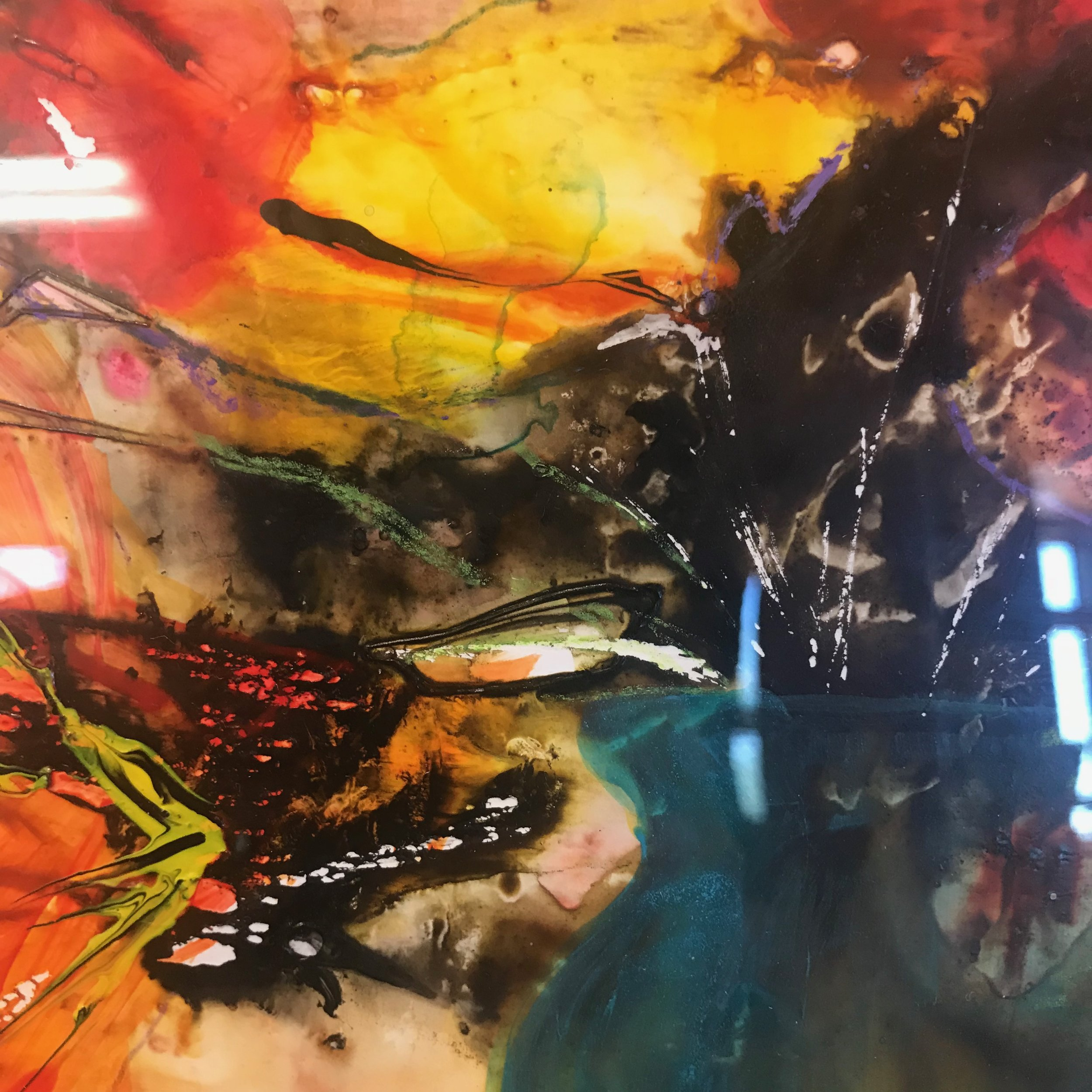 Mixed media collage by Michele Auger