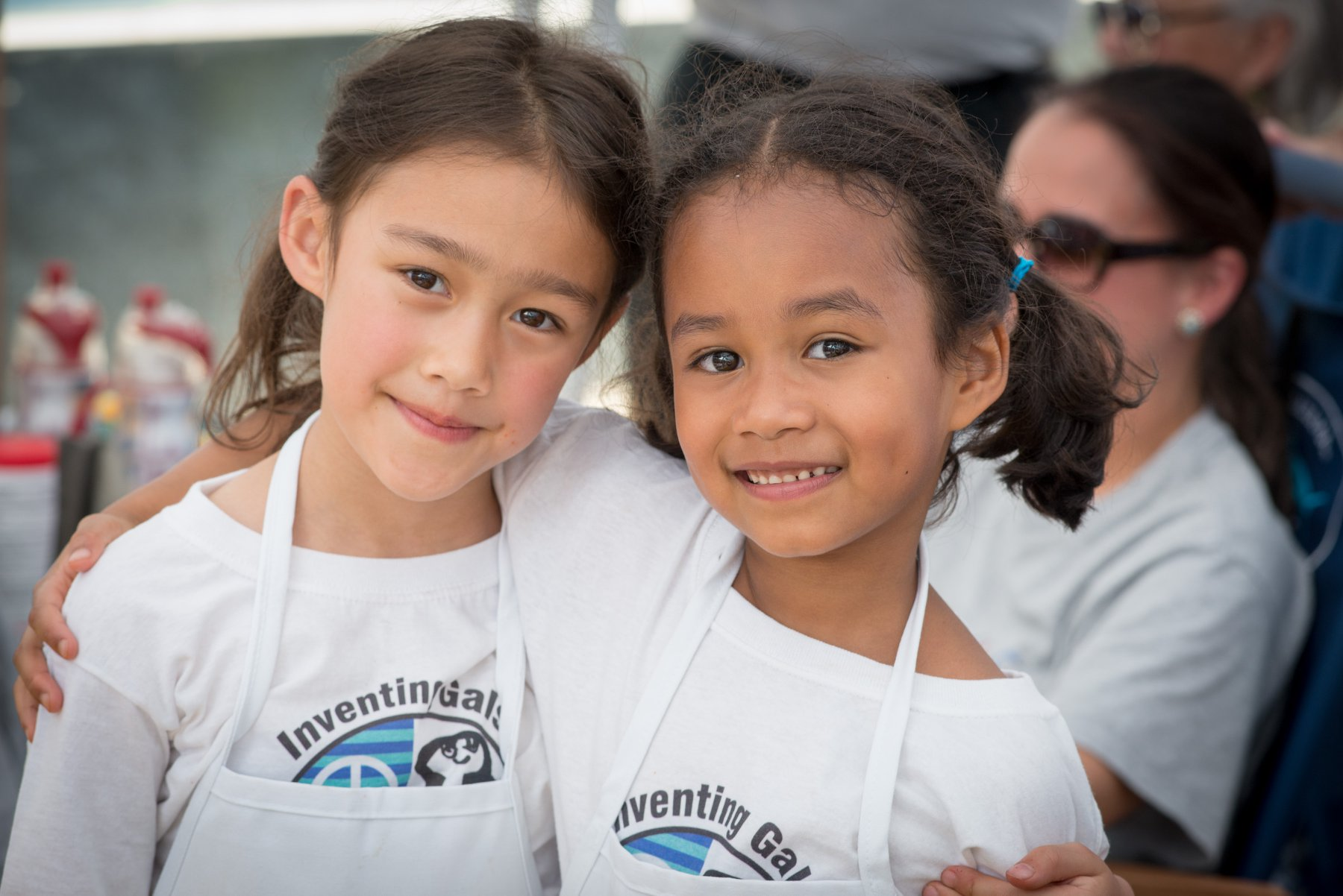 Friends Zaia and Esme sold homemade popsicles at the Acton Children's Business Fair of Washington, DC.