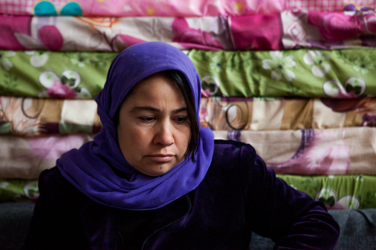 Sozan's daughter died of starvation during the ISIS siege. Photo by Matt Willingham/Preemptive Love Coalition