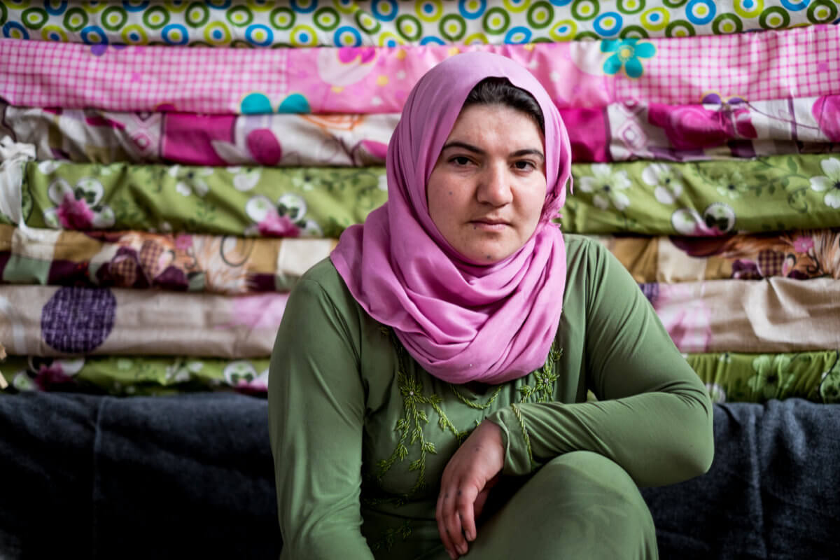 Hazno fled her home in Sinjar while pregnant. Photo by Matt Willingham/Preemptive Love Coalition.