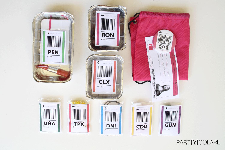 El packaging del KIT&FUN Cosmopólitan imita al las bandejas de comida de un vuelo