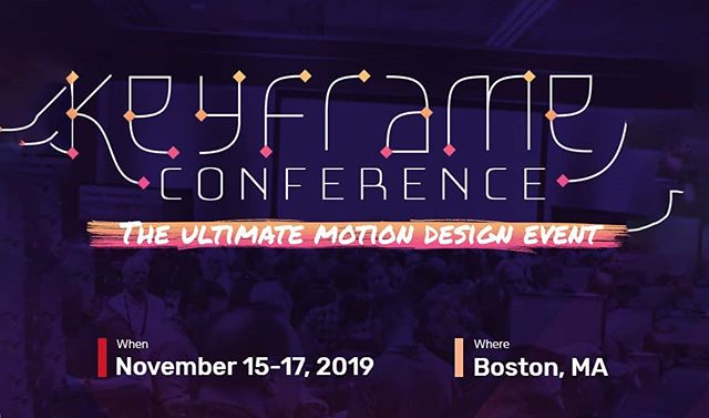 I'm honored to be presenting at the 2nd Keyframes Conference this Nov. (It'll be my first time to Boston!) There's a great lineup of presenters & sessions - you won't want to miss this one! Hope to see you there!