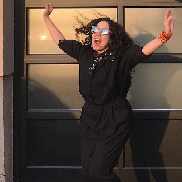Elk City's Renée LoBue at Magic Door Recording studio in Montclair, NJ. #elkcity #everybodysinsecure #magicdoor #montclairnj