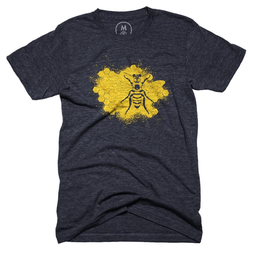 Honeybee Safety – Tri-Blend – Men – Tee – Vintage Navy.jpg