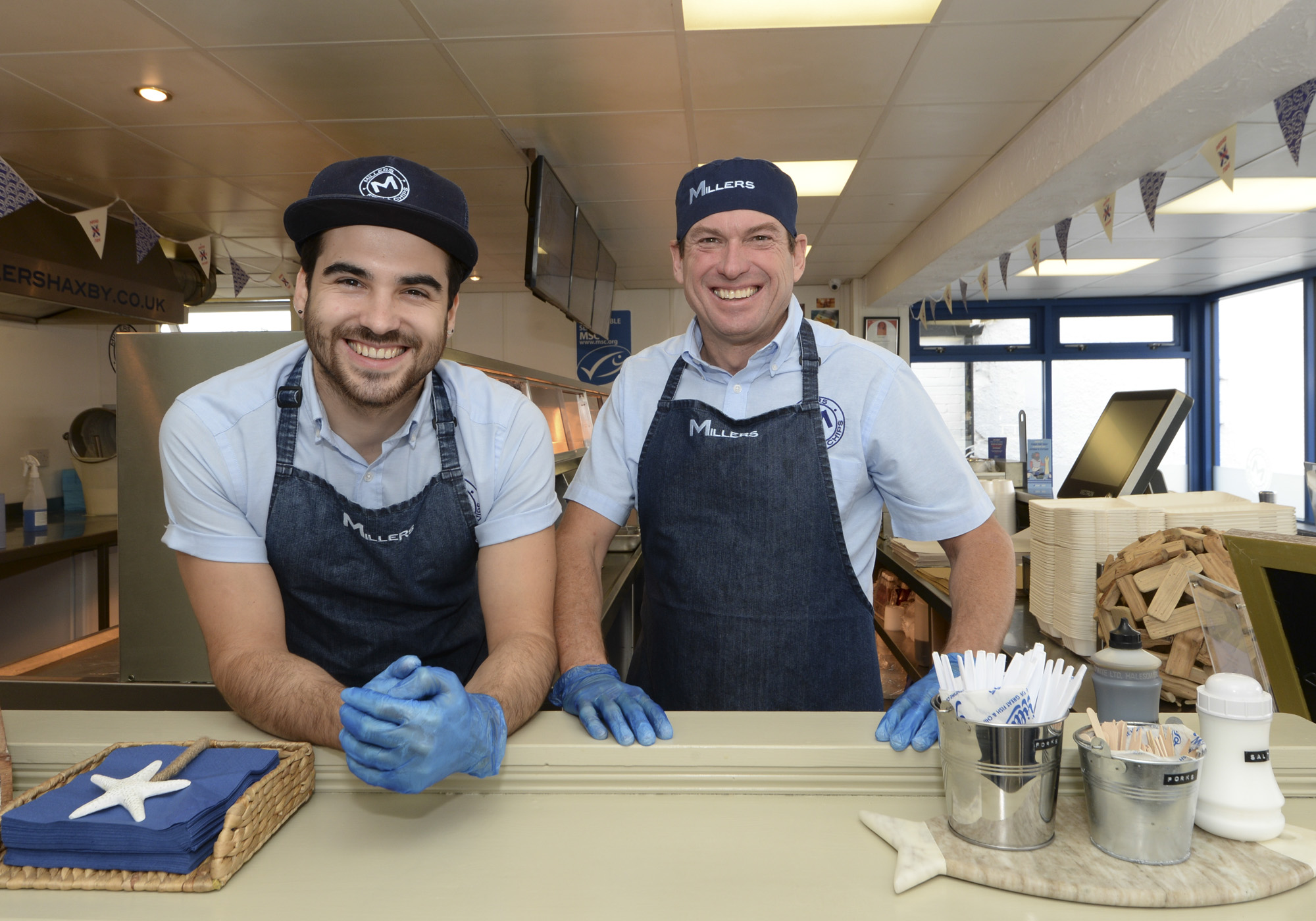 (L-R) Dad, David Miller, and son, Nick Miller of Miller's Fish and Chips in Haxby.jpg
