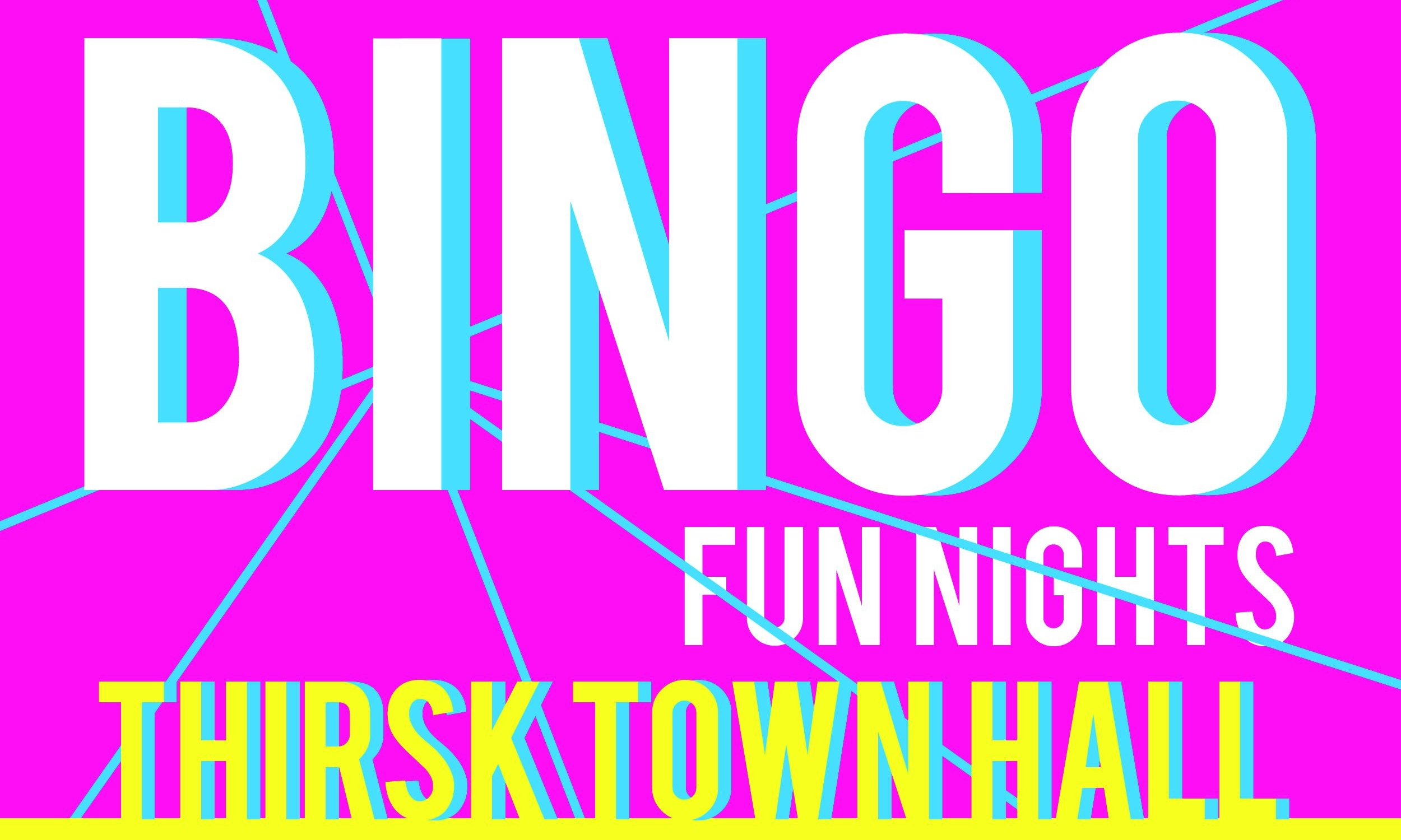 LOT 6   A night at the bingo You and 3 friends can enjoy a night at the bingo with all your tickets and a bottle of fizz taken care of at Thirsk town hall.. Prize donated by Thirsk Christmas Lights team .    Current Bid £30
