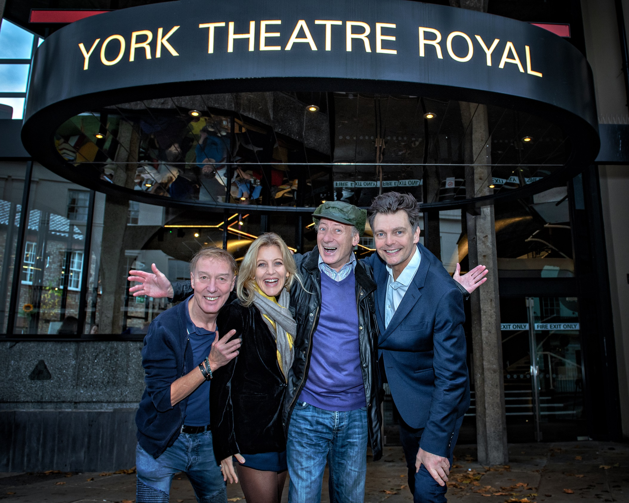 Photo call for The Grand Old Dame of York. Martin Barrass, Suzy Cooper, Berwick Kaler & David Leonard. Photography by Anthony Robling.jpg