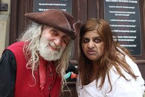 Actors Bryan Heeley and Emma Falcao-Macfadyen sneaking off to cause havoc in York