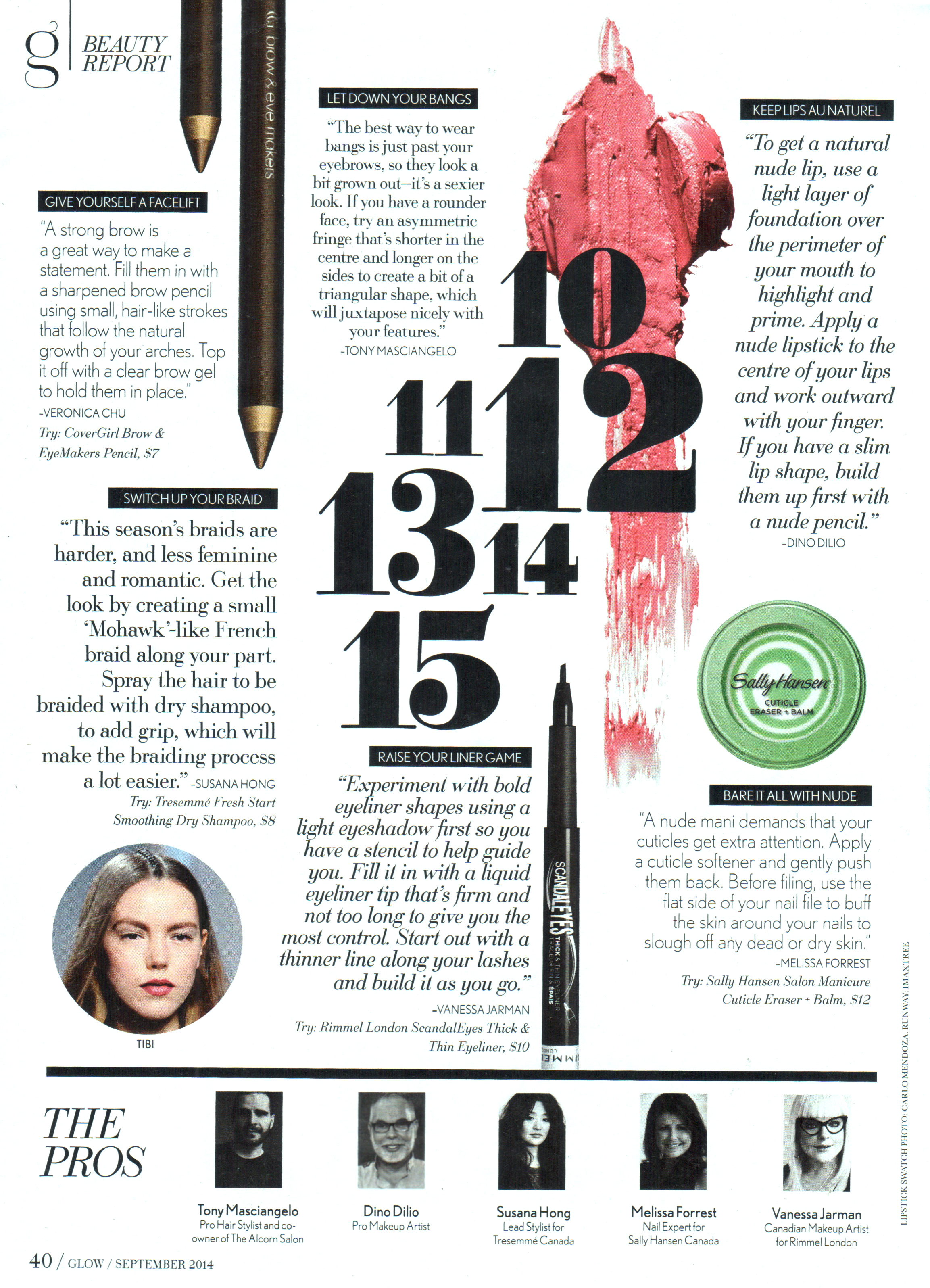 Glow Magazine | September 2014 Issue, Beauty Report - Keep Lips Au Naturel