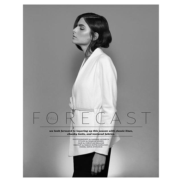 New editorial work for @lucysmagazine featuring @sofiastitchkin #style by @sfrancesnyc #hair by @lacroix16 #makeup by @marjo_riitta  #womensfashion #raquelallegra @escadaofficial #fashion #blackandwhite #photography #editorial