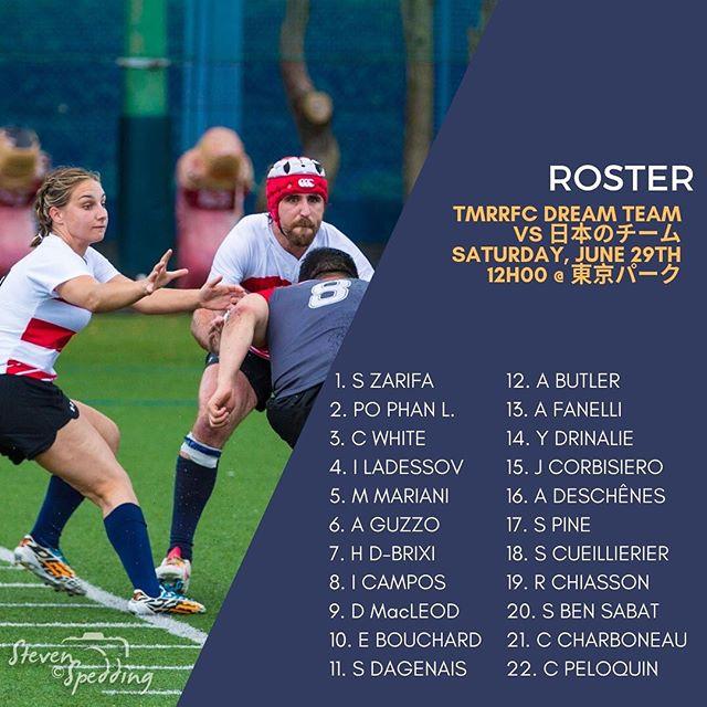 Voici l'alignement pour le  World Rugby pre-World Cup World Cup au Japon samedi prochain!  Il ne vous reste que quelques heures pour acheter vos billets ... et vous rendre!  #rugby15 #rugby #rugbyquebec #rugbycanada #tmr #tmrrfc #gotown #tokyotour #rugbytour #rugbytournement #preworldcup #mixtteam #girlsarebadasstoo