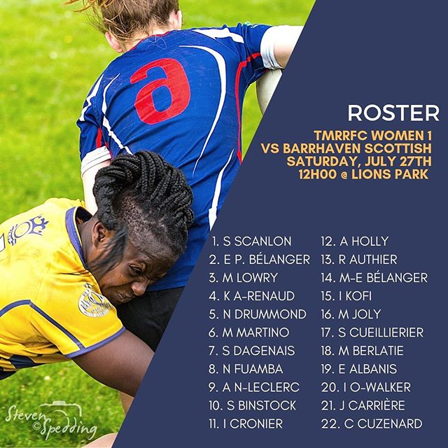 Aujourd'hui, les filles voyagent au Lac Brome pour reprendre le match contre les @ottawascottishrugby!  #gotown #saturdayisrugbyday #rugby #rugby15 #playlikeagirl #uptown #rugbyquebec #rugbycanada #bleedblueandgold #tmr #tmrrfc #🏉