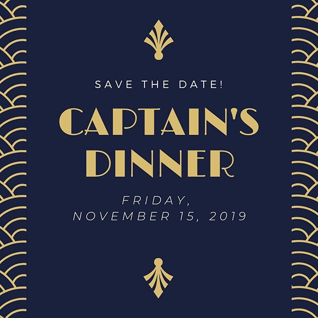Save the date!  #captainsdinner #tmrrfc #thetown #cantwait #savethedate #party #trophies #happy #awards