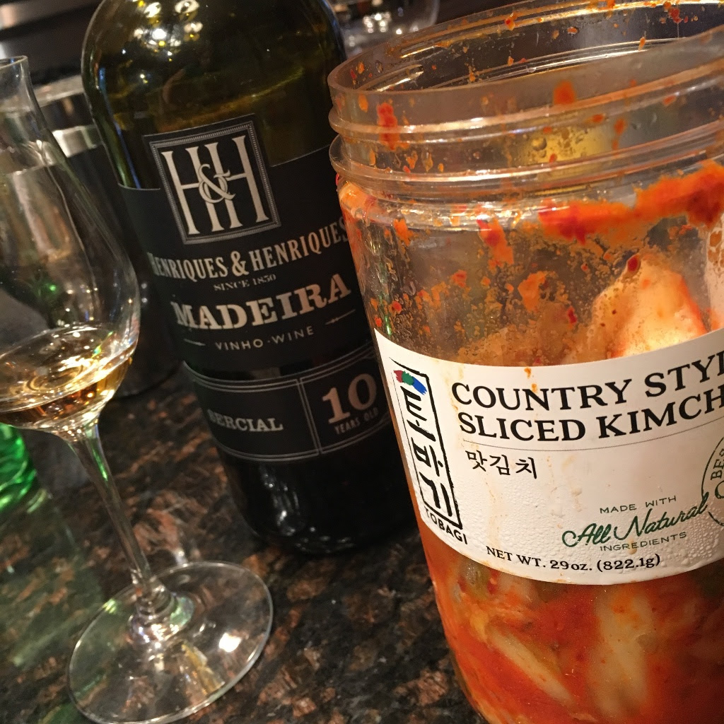 Writing the menu for this special wine dinner had me pulling out my stash of kimchi. Join us for the dinner at Jujube to try the dish that resulted from my tasting trial!