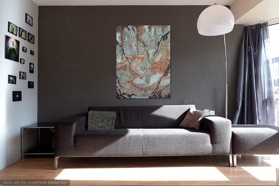 Tranquility   shown in a gray living room.