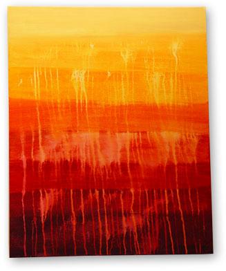 """Liquid Light   - 30"""" x 24"""" Acrylic on Canvas"""