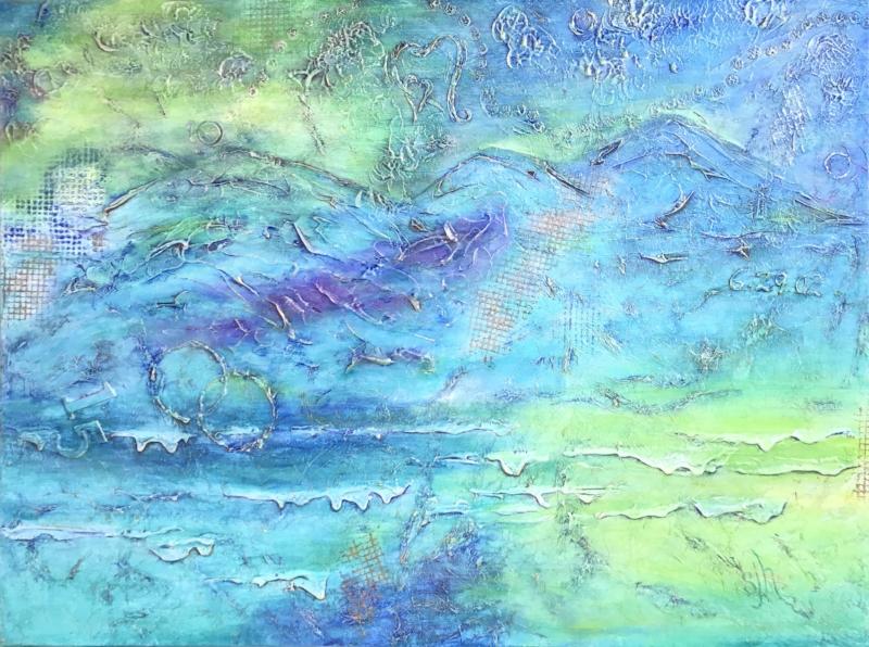 JOURNEY - 30x40 - Acrylic Mixed Media on Canvas