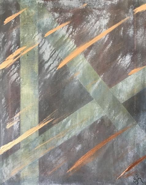 "Time Passage   - 20"" x 16"" x .75"" Acrylic mixed-media on canvas"