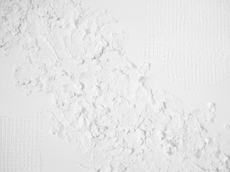 White texture relief area - upper lefthand corner