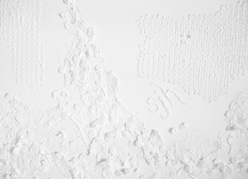 White texture relief area - lower righthand corner