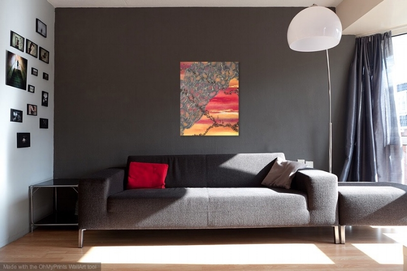 Shown in a gray room.
