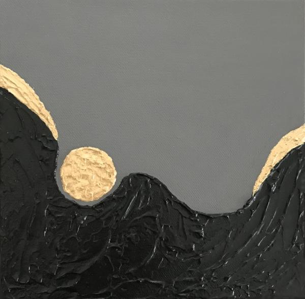 "2004-R - Custom 8"" x 8"" abstract painting"