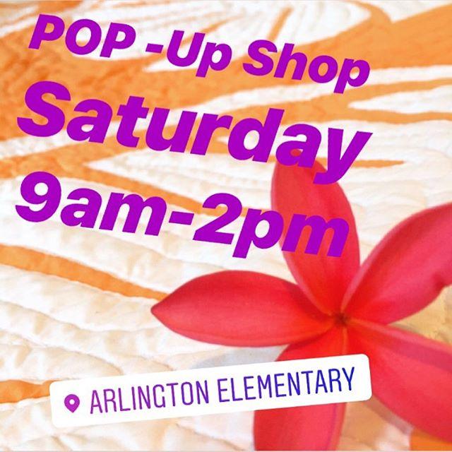 Pop-Up Shop 🛍 at Arlington Elementary School Fair 17800 Van Ness Ave. Torrance 11/2 Saturday from 9-2pm 🤙🏼🌺 #quilt plumeria #monstera #hawaiivintage #hawaiianquilt #islandlife #hula #ulu #bedding #surfergirl #summerhome #islandhome