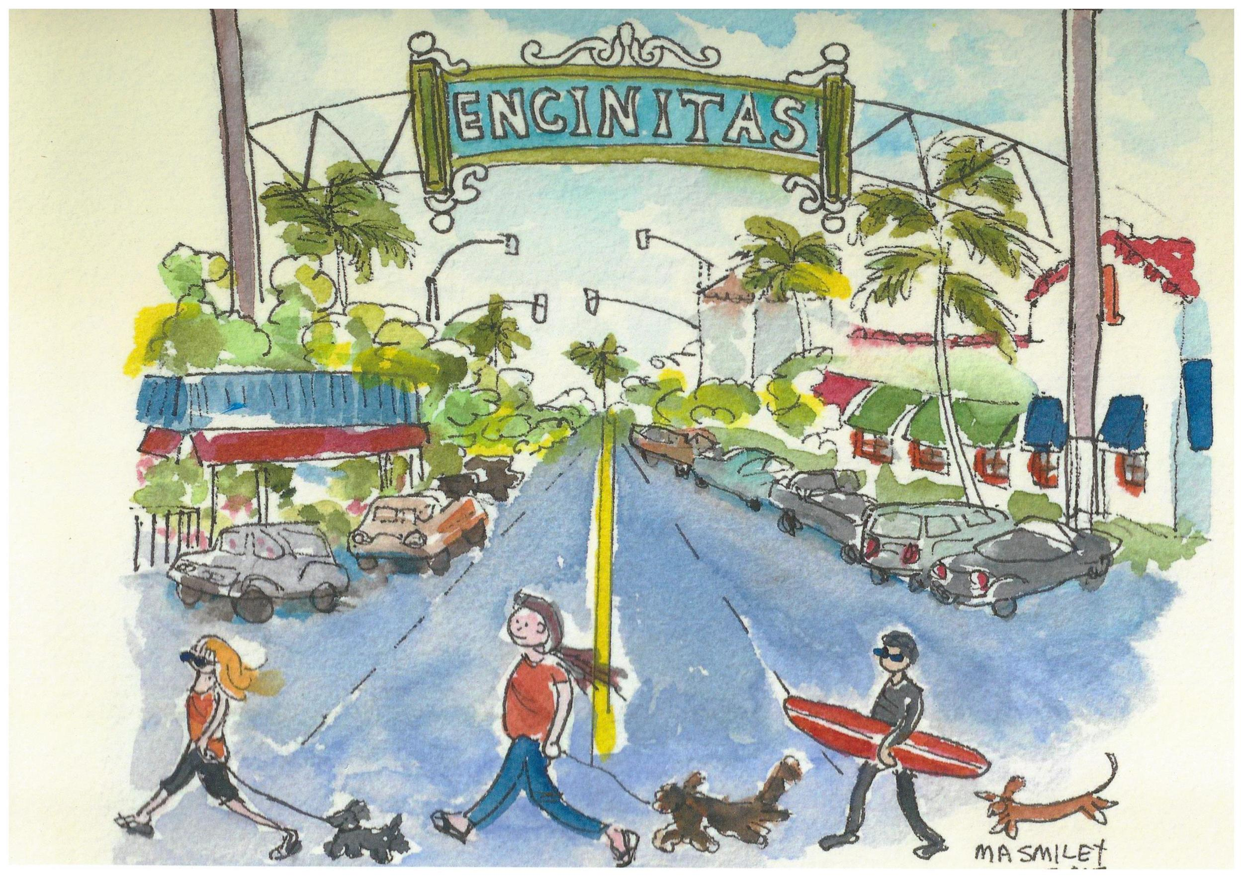 Thank you book for a friend about the quaint town of Encinitas in California where Mary Anne enjoyed a much needed week of rest compliments of a sweet friend and her lovely seaside condominium.