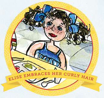 Elise Embraces her curly hair