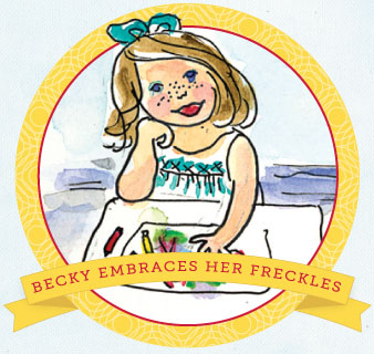 becky embraces her freckles