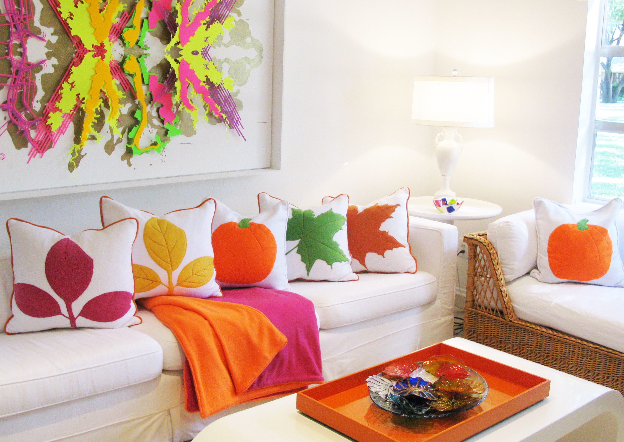 Our new fall line of pillows and throws.