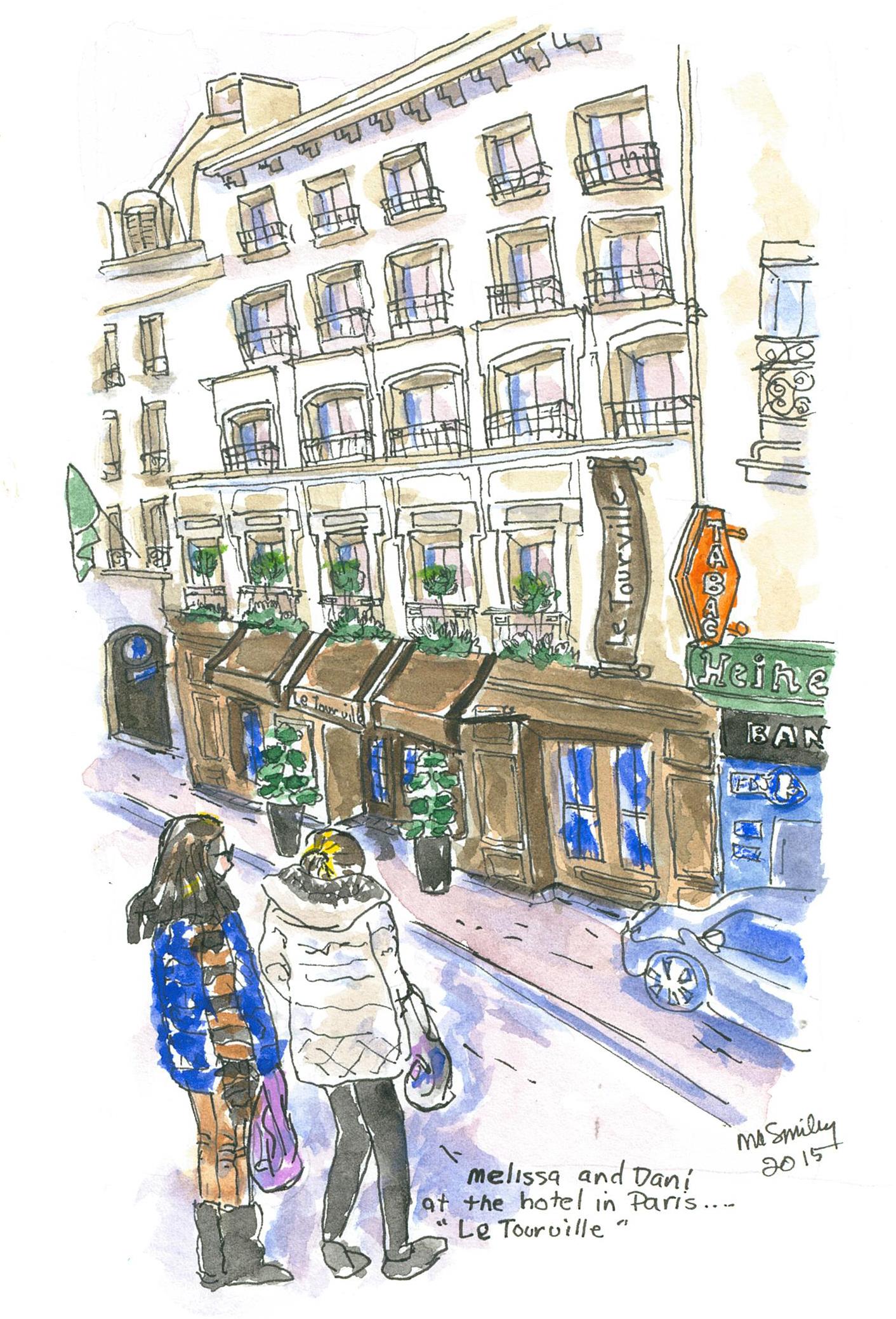 Our cute hotel in Paris