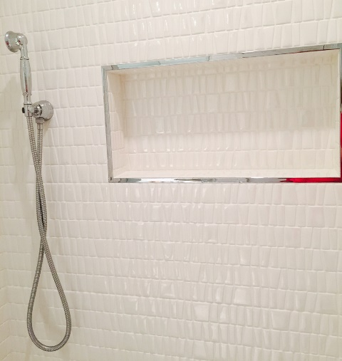 Shower Cubby Niche Tile Trim Detail