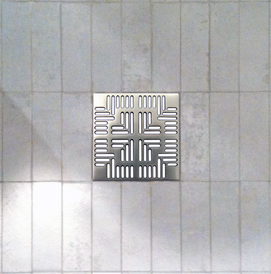 Shower Floor tile detail with square drain
