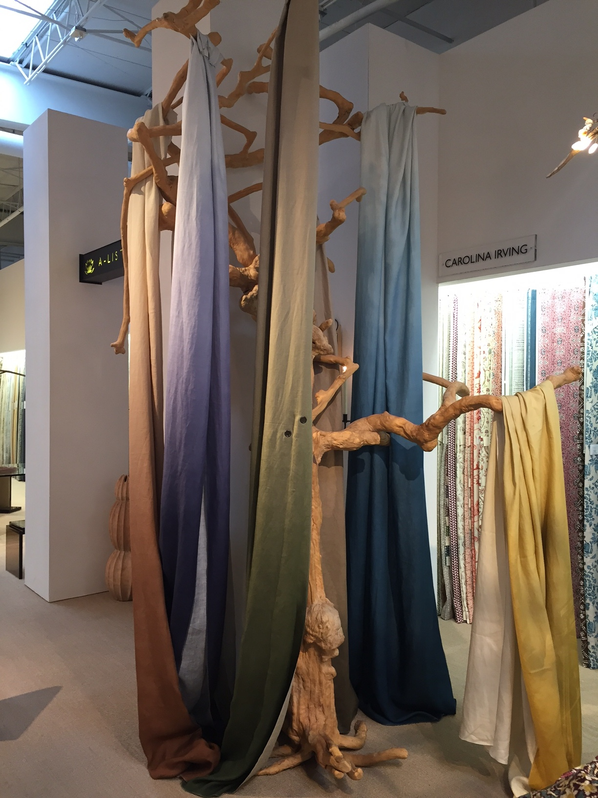An Ombre display at  Allan Knight and Associates Showroom  touts magnificent Linen textiles in scrumptious Ombre shades from the  ZAK + FOX  collection, called Tail of Heaven. Oh! The feel! The touch! The look!