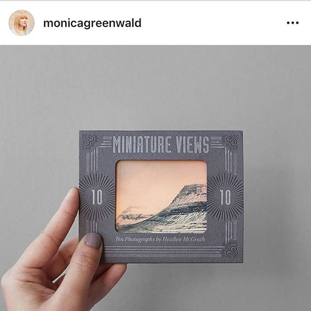 One of my favorite recent projects! @monicagreenwald crushing the design on this mini photo portfolio for @heathermcgrath - letterpress and diecut on #colorplan papers ✌️