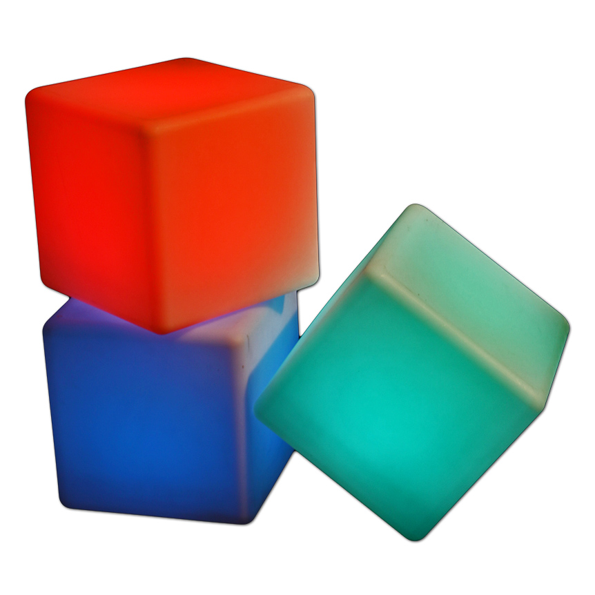"Wireless LED Cubes. 16"" x 16"""