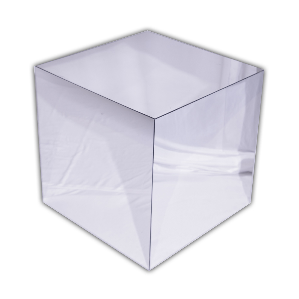 "Reflection Cube. 24"" x 24"" x 24""."