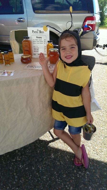 Come visit us at the Farmer's Markets this summer and meet a couple of our worker bees!