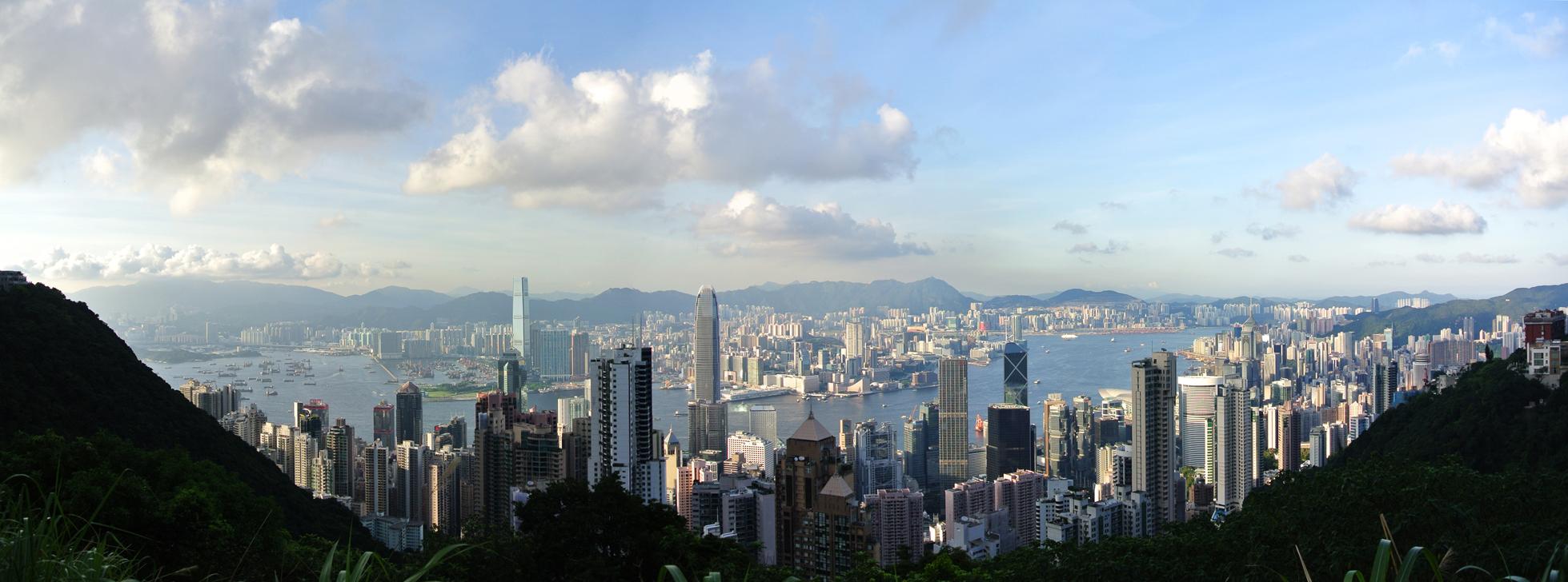 The awe-inspiring panorama of Hong Kong.