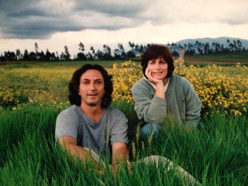 Bonnie and Santiago Suarez, pictured here the day they purchased the 400+ acre dairy farm in 1993. Santiago - who was born in Ecuador and still had a large amount of extended family there - wanted his three sons to have a connection to their Ecuadorian roots.