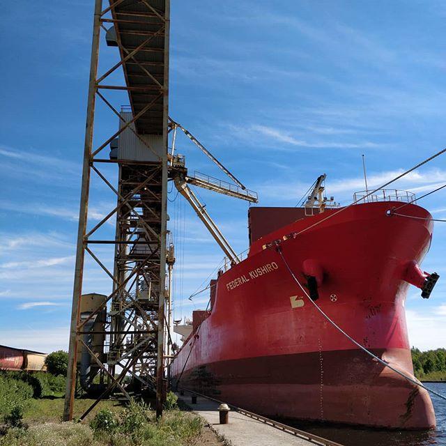 Federal Kushiro #portofthunderbay #thunderbay #thunderbayshipping #bulkcarrier #fednav