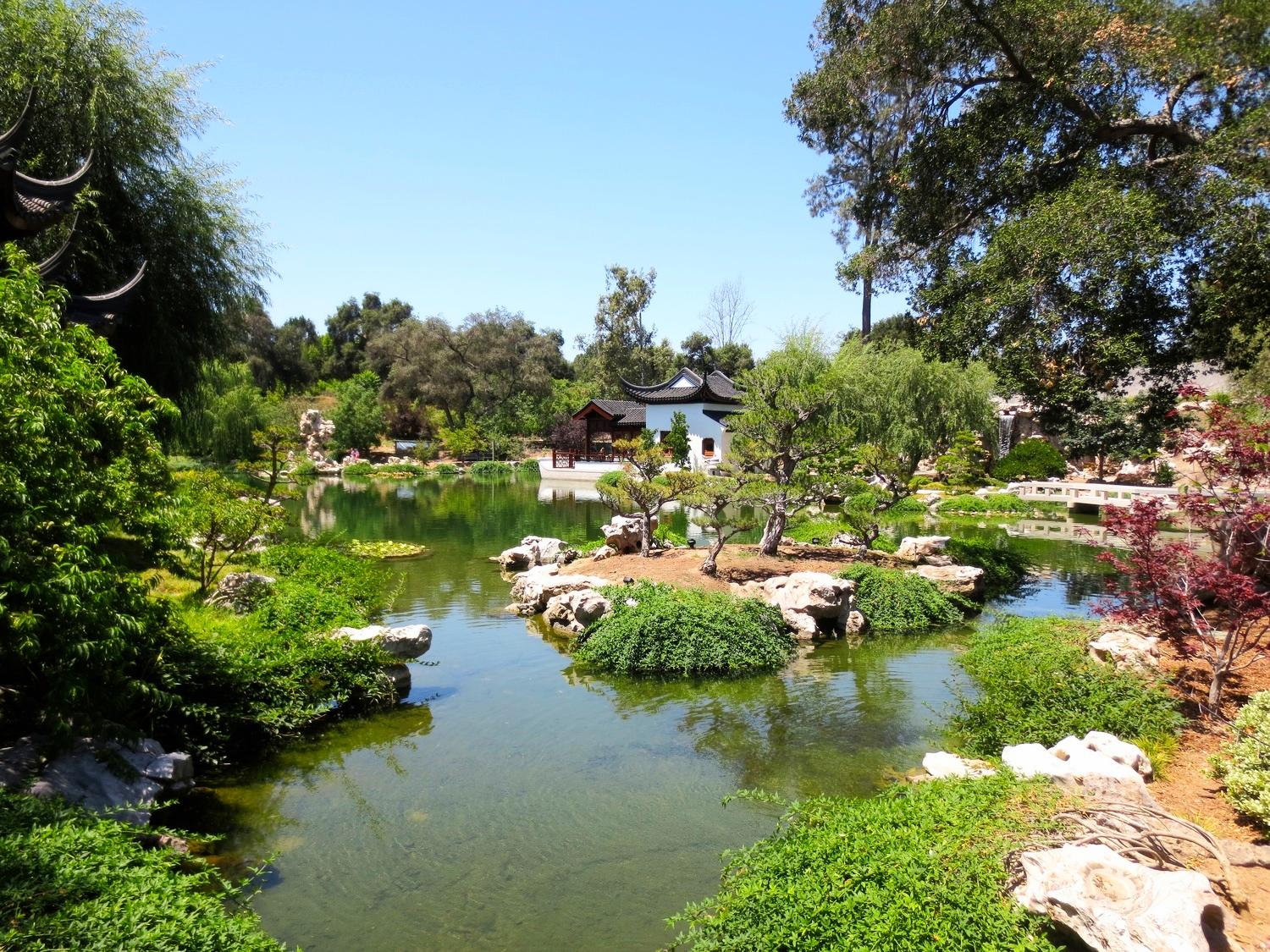 The Chinese Garden at the Huntington Botanical Gardens.
